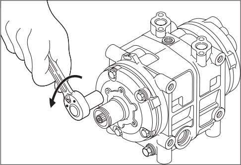 7- Service procedures - Shaft seal assembly Tap lightly Remover 597035-0500 Front cylinder head Shaft seal