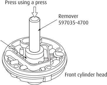 Press using a press Remover 597035-4700 Front cylinder head