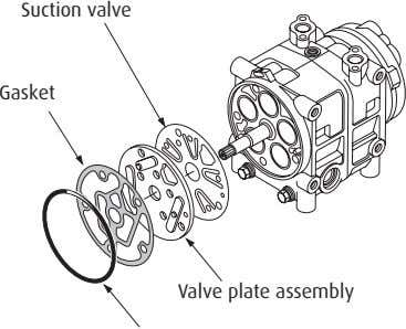 Suction valve Gasket Valve plate assembly