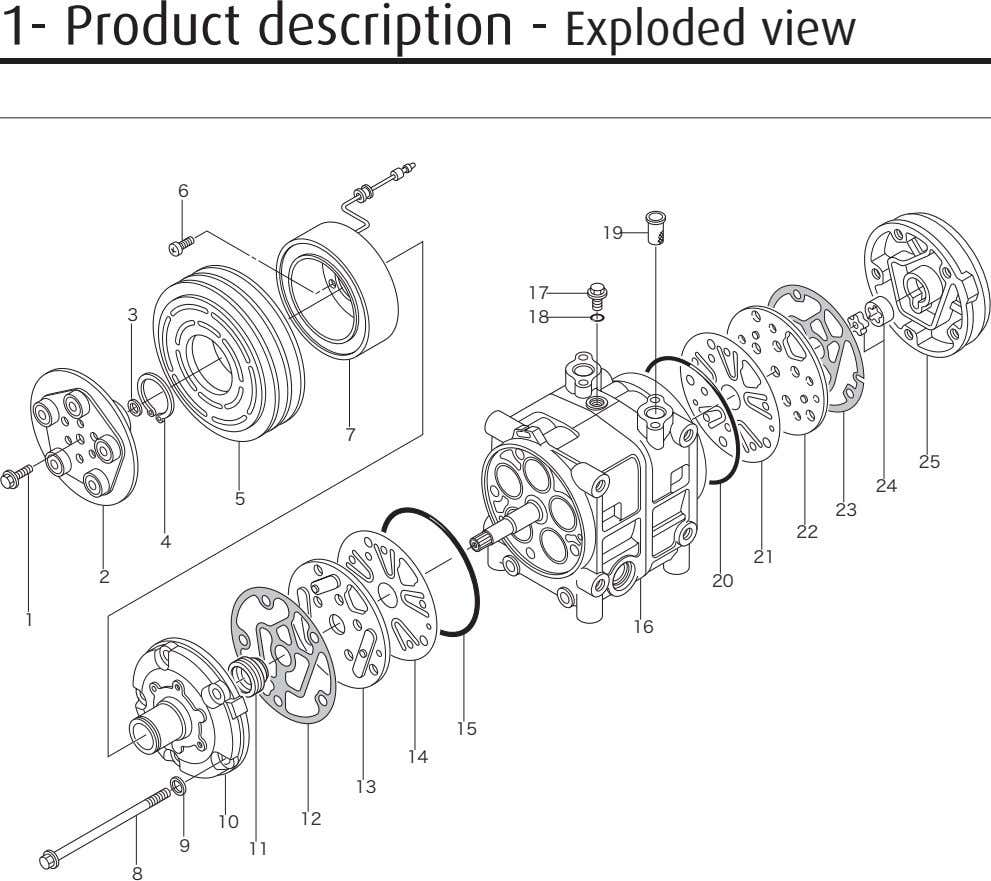 1- Product description - Exploded view 6 19 17 3 18 7 25 24 5