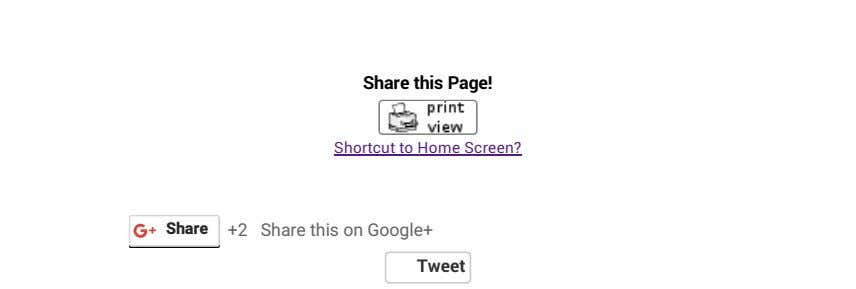 Share this Page! Shortcut to Home Screen? Share +2 Share this on Google+ Tweet