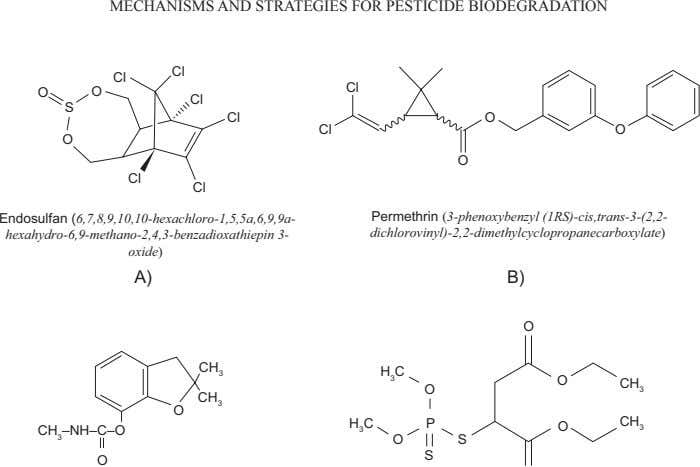 MECHANISMS AND STRATEGIES FOR PESTICIDE BIODEGRADATION Cl Cl Cl O O Cl S Cl O