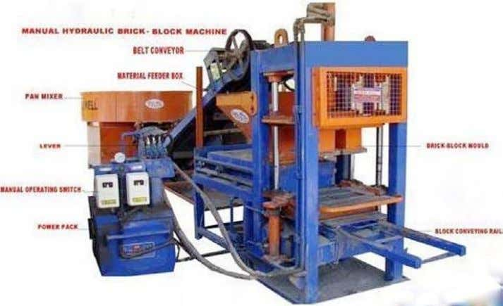 of Construction & Demolition Waste – Ready Reckoner Figure-10: Fly Ash Brick Making Machine Figure-11: Fly