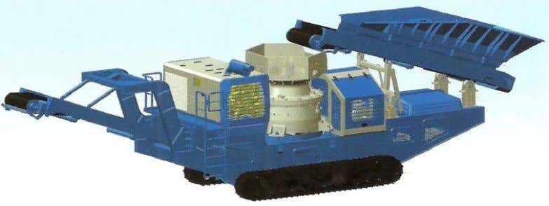 CRUSHER Photo 10: Mobile/ in-situ crushers for C&D waste Photo 11: Crawler cone crusher for mobile/