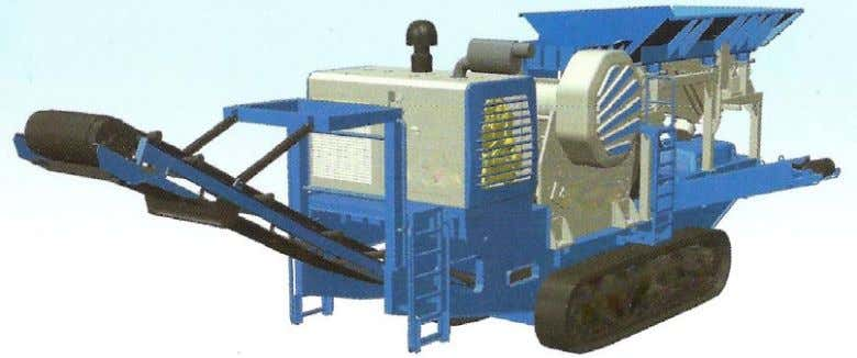 11: Crawler cone crusher for mobile/ in-situ application Photo 12: Crawler jaw crusher for mobile/ in-situ