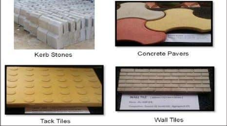 poles, etc. Photo 16: Recycled concrete blocks & pavers Photo 17: Recycled concrete products Building Materials