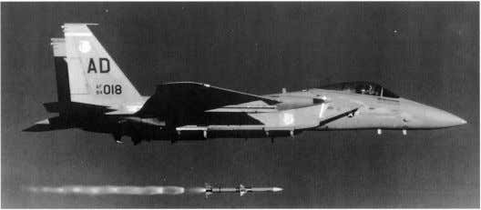 . ,' 22 Opposite page: (Top) An AIM-7M flies straight and true from this 4485 Operational
