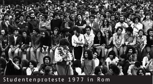 Studentenproteste 1977 in Rom