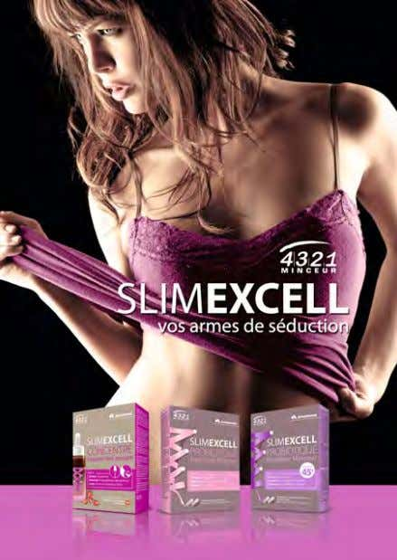 in small bottles, which contain 5 billion probiotics. SLIMEXCELL Three new slimming products that meet the