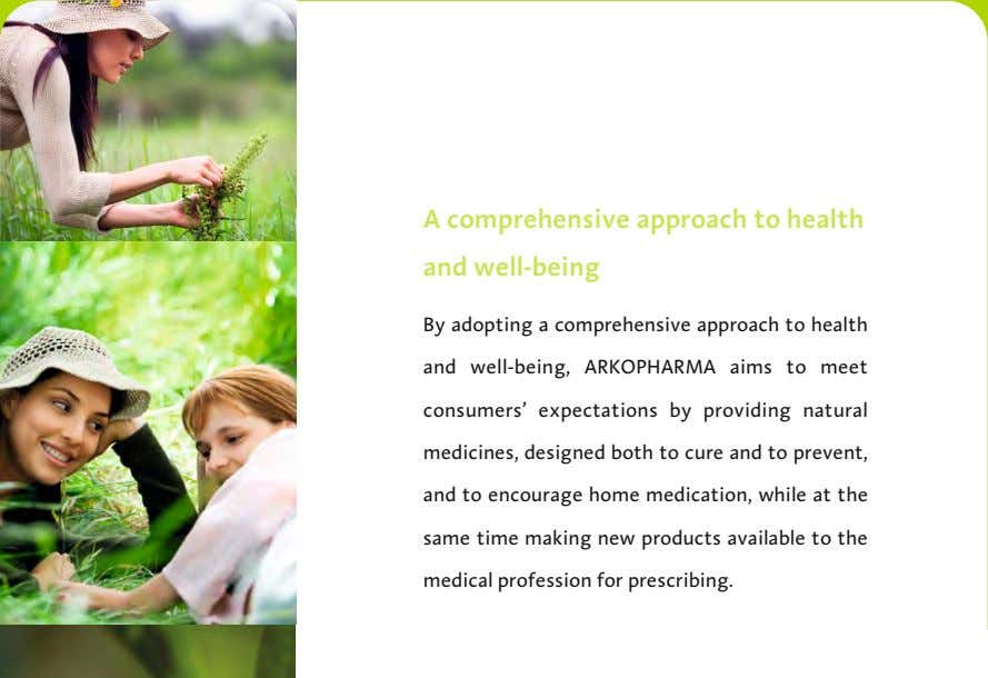 A comprehensive approach to health and well-being By adopting a comprehensive approach to health and