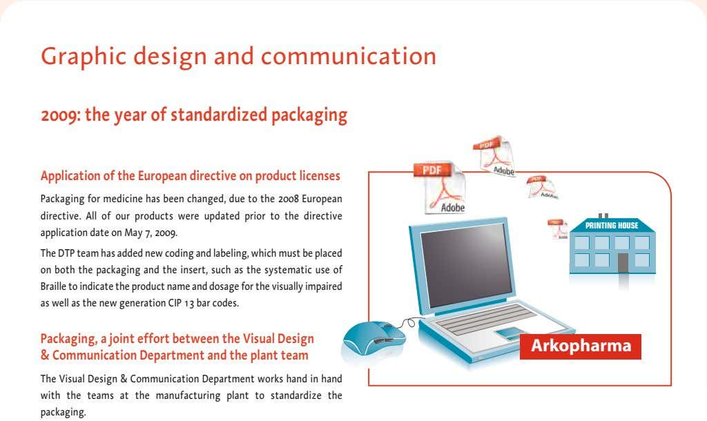 Graphic design and communication 2009: the year of standardized packaging Application of the European directive