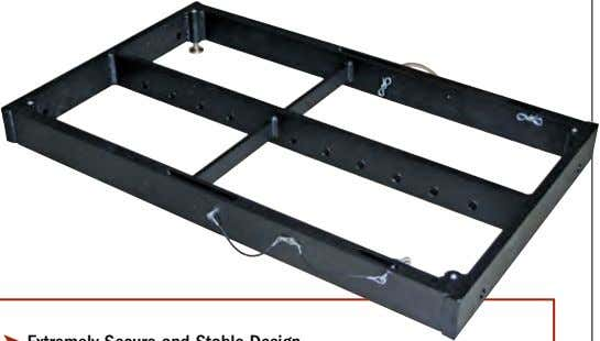 & Teardown ➤ Ground Stack Leveling Feet Included ELB16 Flying / Stacking Bumper The ELB16 bumper