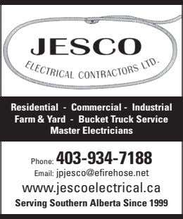 Residential - Commercial - Industrial Farm & Yard - Bucket Truck Service Master Electricians Phone: