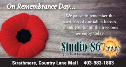 On Remembrance Day We pause to remember the sacrifices of our fallen heroes. Thank you