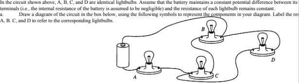 lightbulbs. corresponding the to refer to D and C, B. A, res the Label diagram.