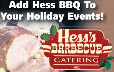 Add Hess BBQ To Your Holiday Events!