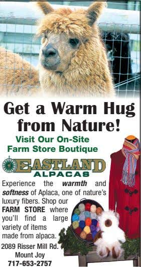 Get a Warm Hug from Nature! Visit Our On-Site Farm Store Boutique Experience the warmth