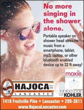 No more singing in the shower alone Portable speaker on shower head streams music from