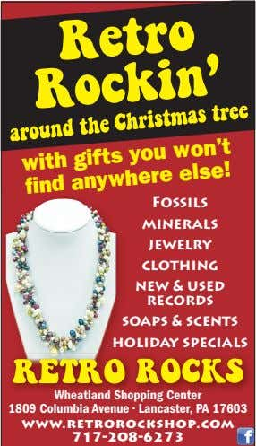 with gifts you won't Fossils nd anywhere minerals else! jewelry clothing new & used records