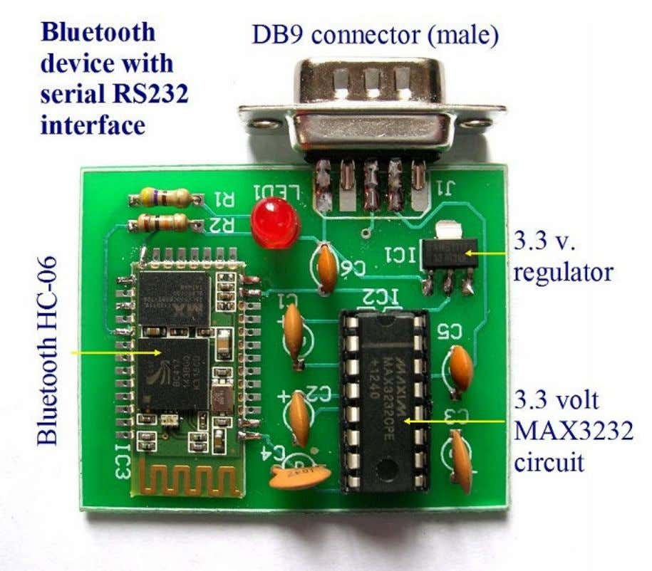 in the Bluetooth module, based on the picture shown below. Bluetooth HC-06 with serial port module.