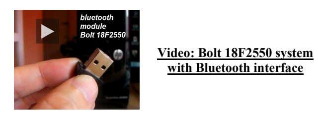 Video: Bolt 18F2550 system with Bluetooth interface