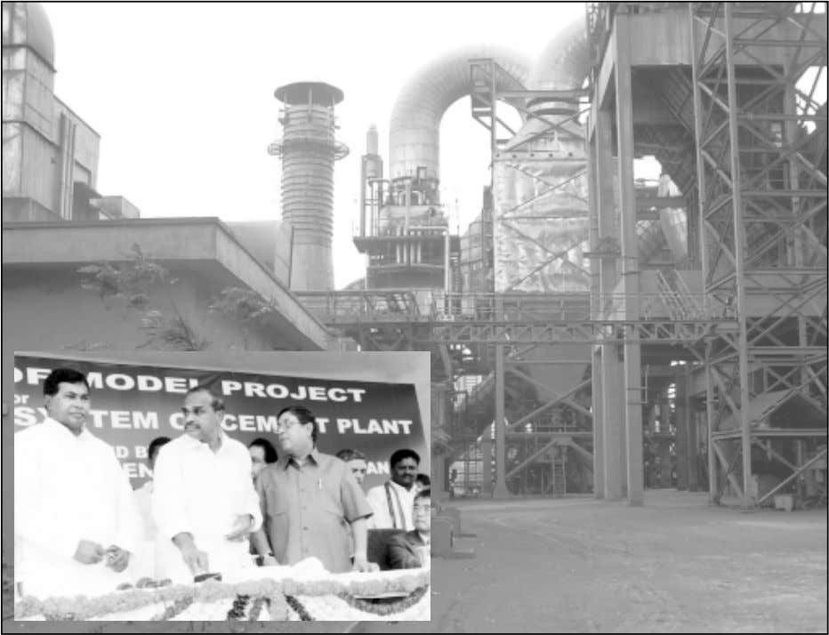 INAUGURATION OF MODEL WASTE HEAT RECOVERY PROJECT AT VISHNUPURAM CEMENT PLANT ON 16TH SEPTEMBER, 2004