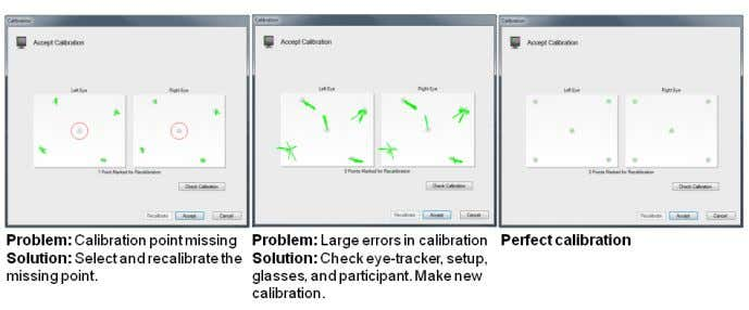 in two vector plots in the Calibration Result dialog box. The calibration plot shows error vectors