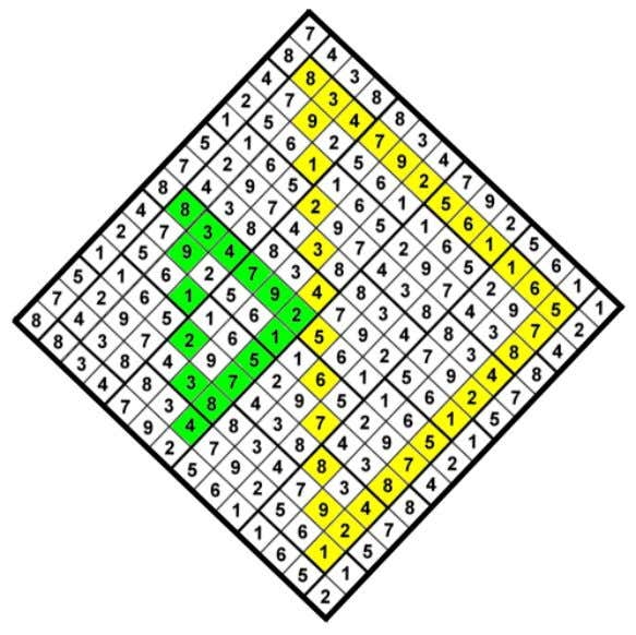 triangles on the grid with sides of 6, 12, or 24 squares. Example of a 6