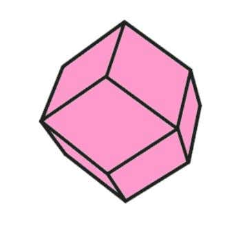 not shown so as to make the cube on the inside easy to see. Rhombic Dodecahedron