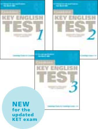 NEW for the updated KET exam