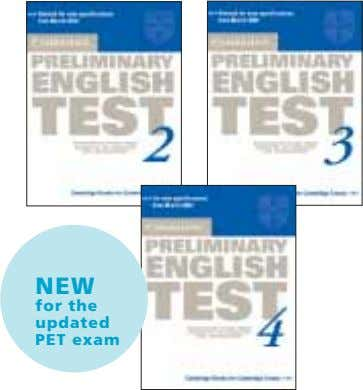 NEW for the updated PET exam