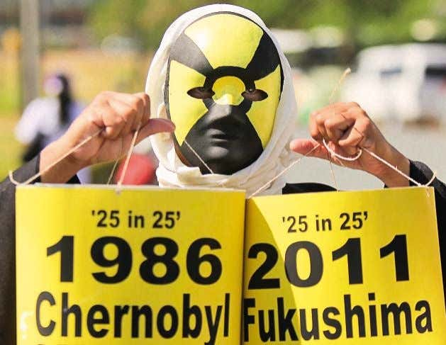 and continue to this day. Protest held on the 3rd anniversary of the Fukushima NPP accident,