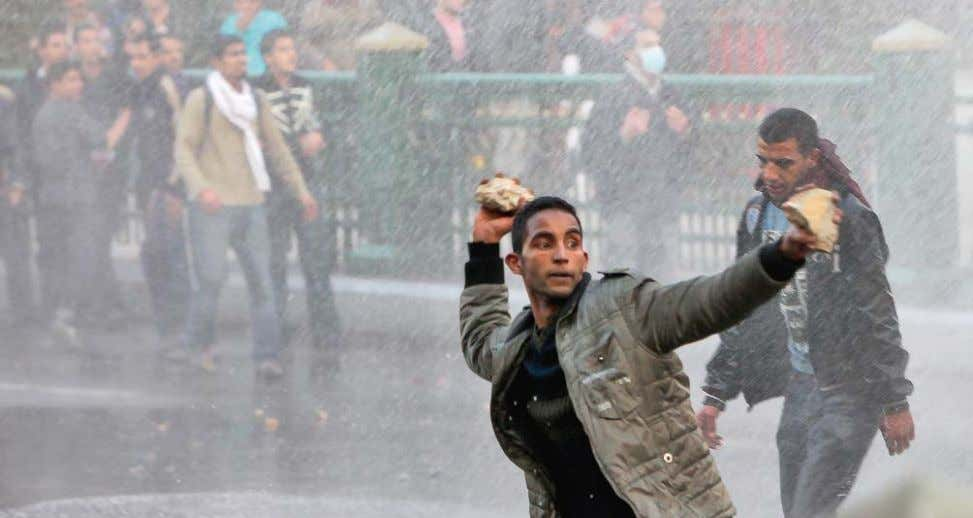 The list of SESAME participants includes Protesters throwing stones at the police, Cairo, Egypt, January 25,