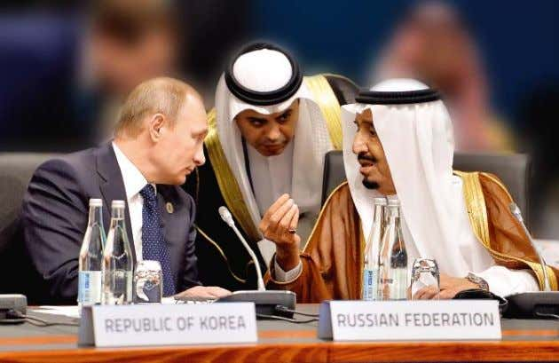 of Saudi Arabia, at a working meeting of heads of delegations of the G20, Brisbane, Australia,