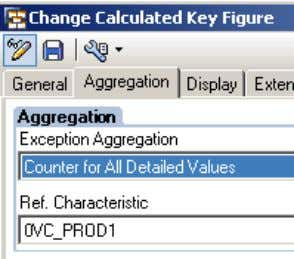 New with SAP NetWeaver BW 7.30 and BW Accelerator 7.20? b) Global CKF counter (Constant '1'