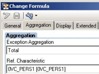 Redefinition of exception aggregation through formula) Query Result There are 58 combinations of Product and