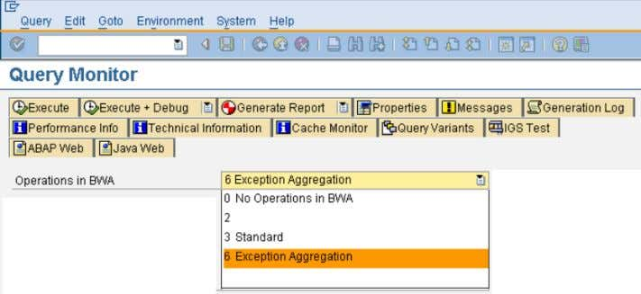 details, refer to chapter ' E xception Aggregation') : If key figures used in a query