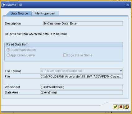 as well as contact names and address data (e.g. city). Excel File as a source in