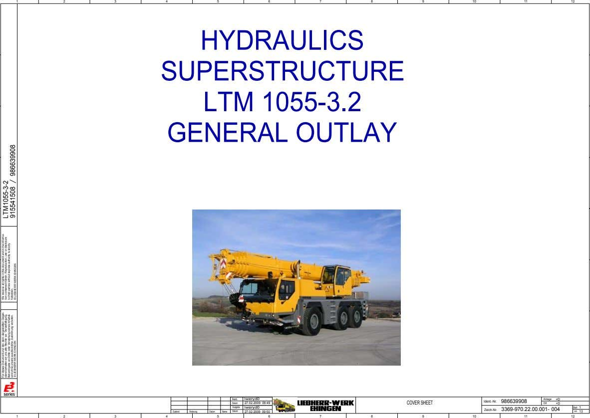 1 2 3 4 5 6 7 8 9 10 11 12 HYDRAULICS SUPERSTRUCTURE LTM