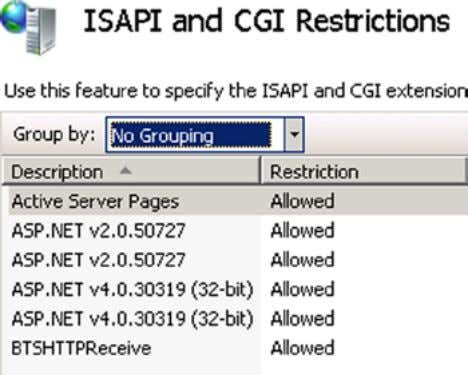 Restriction setting to Allowed, as shown in Figure 5-10 . Figure 5-10. Configuring the HTTP Receive