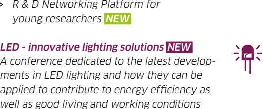 › R & D Networking Platform for young researchers NEW LED - innovative lighting solutions