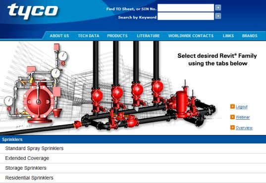 Tyco's Revit Content www.grinnell.com confidential www.tyco-fire.com