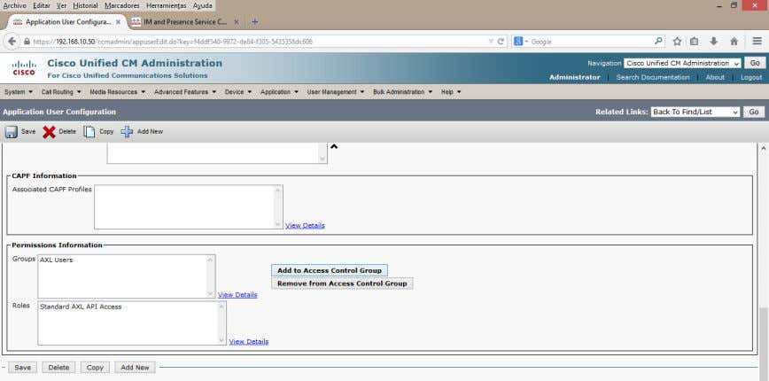 Add a CTI-Enabled Group To enable desk phone control and other aspects of Presence functionality,