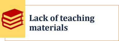 Lack of teaching materials