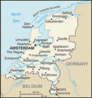 the Netherlands, also known as Holland, get out your globe, and find longitude 5º E and