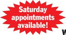 Saturday appointments available!