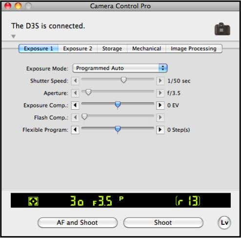 4/7 4 The Camera Control Pro window will be displayed. Windows Mac OS Return to first