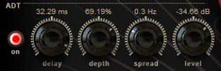 you are creating with the settings you select. ADT Controls Artificial Double Tracking is a technique,