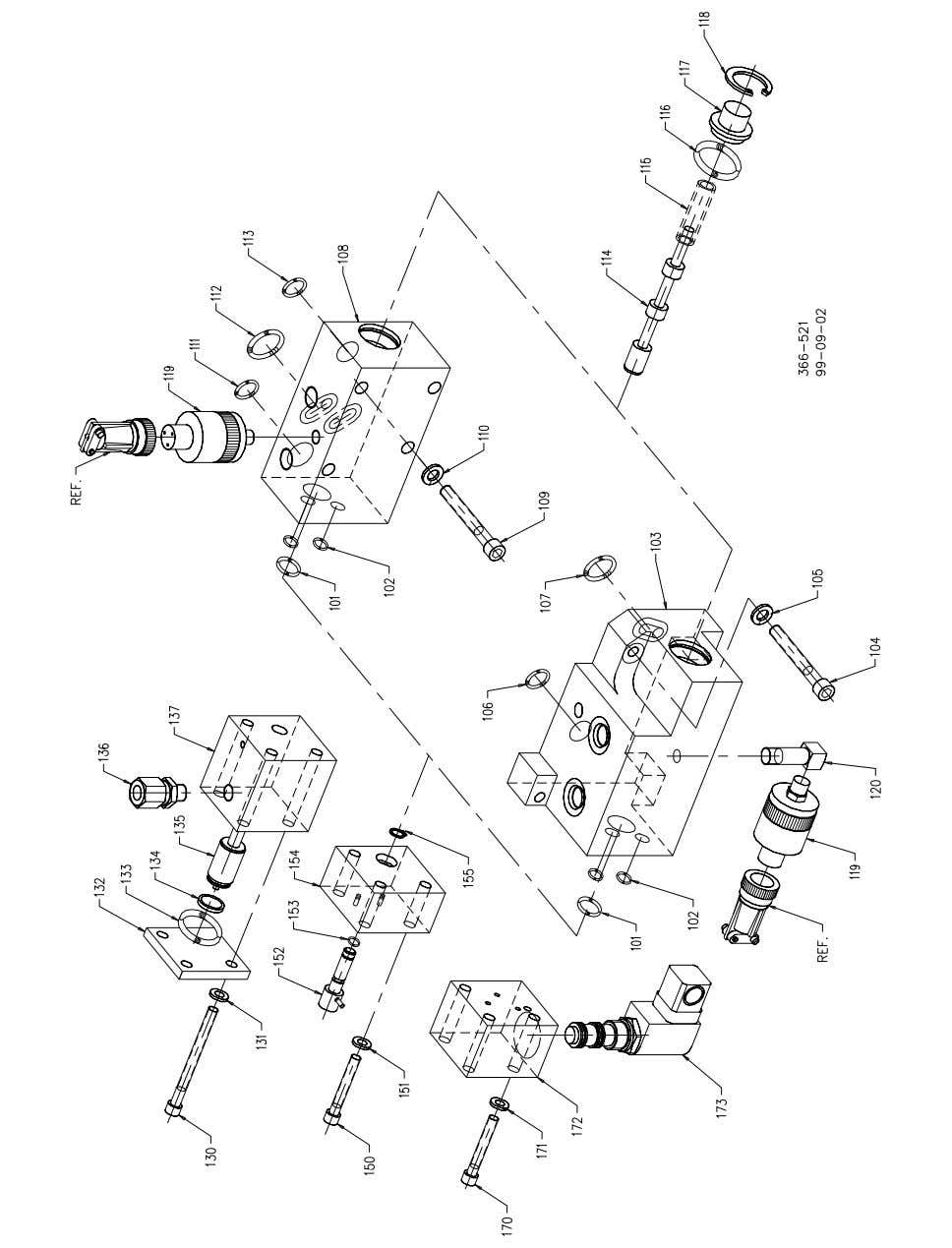 PG-EG Integral EG Actuator for PG Governors Manual 36637 Figure 4-2. Mode Select Block Exploded View