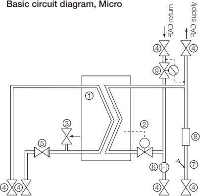 Basic circuit diagram, Micro 4 4 9 1 3 2 8 5 7 6 4
